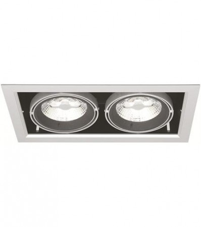 LED Downlight MD-250, 230V, 2x10W, Sølv