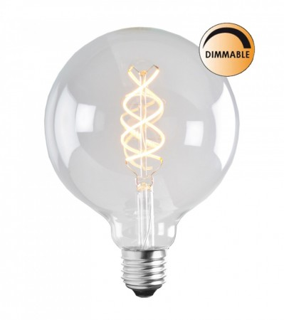 5W SOFT LED FILAMENT Glob 125 mm E27 Dimbar