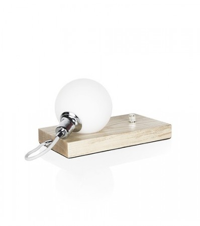 Bordlampe Orb Ask / Krom