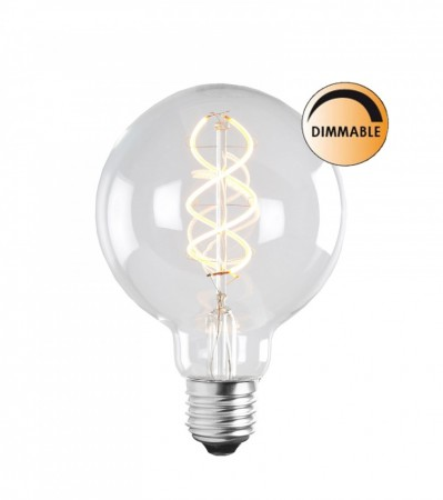 5W SOFT LED FILAMENT Glob 95 mm E27 Dimbar