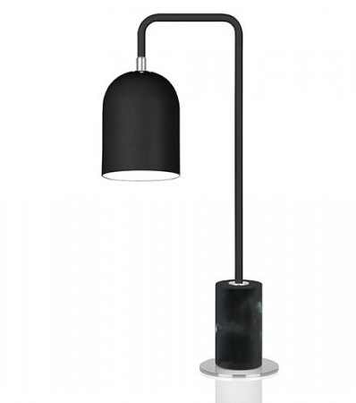 Bordlampe Bend sort marmor
