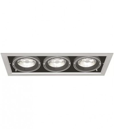 LED Downlight MD-250, 230V, 3x10W, Sølv