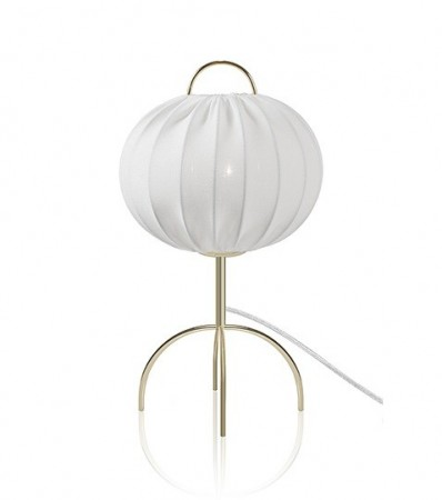 Bordlampe SCANDI - Hvit / Messing
