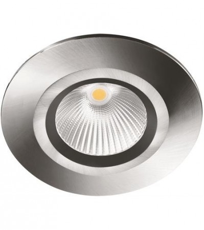 LED Downlight MD-825, 230V, Stål satin, Fast, IP44